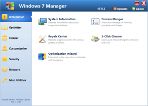 Windows 7 Manager (x64bit) screenshot